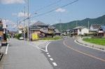 景雲寺交差点付近の三叉路(左が想定山陽道)