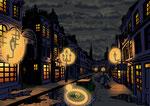 1920 - Polizist - Straße bei Nacht