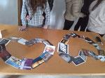 Preparando las postales