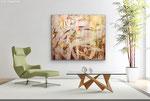 Acryl-Spachteltechnik  120 x 100 cm  Wohnbeispiel