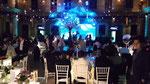 Iluminación en Azul boda en Casa del Corregidor Ciudad de México