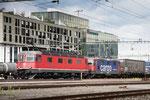 """Re 6/6 11683 """"Amsteg-Silenen"""", Rotkreuz (11.09.2013) ©pannerrail.com"""
