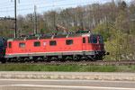 """Re 6/6 11652 """"Kerzers"""", Killwangen (06.04.2011) ©pannerrail.com"""