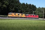 """Re 4/4, 11320 """"Interregio Cargo"""", Sins (02.08.2013) ©pannerrail.com"""