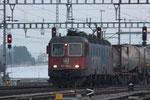"""Re 6/6 (Re 620) 11642 """"Monthey"""", Sargans (02.02.2011) ©pannerrail.com"""