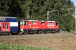 Re 4/4, 11229 (420 229-7 LION), Rotkreuz (03.09.2013) ©pannerrail.com