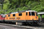 """Re 4/4, 11320 """"Interregio Cargo"""", Wassen (24.05.2013) ©pannerrail.com"""
