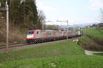 Crossrail BR 185 597-2, Rotkreuz (18.04.2013) ©pannerrail.com