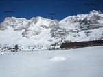 Der Monatsch (2753m), das Kar der Forca del Palone sowie die Terrarossa (2420m)