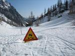Schneehöhe ~1,5 bis 2m