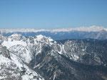 Der Blick nach Norden (der höchste Gipfel rechts ist die Hochalm, 3360m)