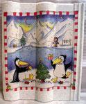 Pingus mit Weihnachtsbaum