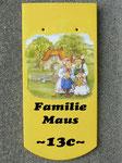 Mausfamilie m. Namen & Hausnummer