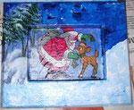 Rahmen mit Weihnachtsmann