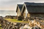 Die Fischerhütten von Bruddesta Sjöbodar wurde vor langer Zeit aufgegeben.