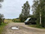 unser Stellplatz am  Puurijärvi and Isosuo National Park