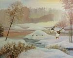 Winterlandschaft mit Enten 01
