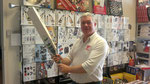 SCA President picks up one of the new GM range of bats