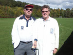 SCA Final 2010 umpires, Dr. Bryan pattison OBE & Mr. Paul Cawsey