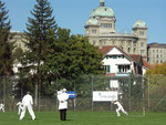 Swiss cricket under the Bundeshaus 2010