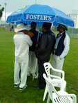 Swiss cricket - rain stops play!
