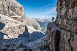 am Einstieg zum Sentiero Bocchette centrale © rosenwirth-dia@web.de
