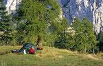 Zelten unter dem Gartnerkofel, Karnischer Hauptkamm © Rosenwirth
