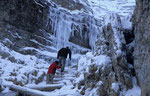 Gipfelanstieg zum Piz Boe nach einem herbstlichen Schlechtwettereinbruch © Rosenwirth