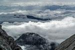 Schlechtwetterwolken beim Blick vom Tennengebirge in die Hohen Tauern © Rosenwirth