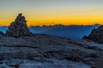 Sonnenaufgang am Rifugio Pedrotti © rosenwirth-dia@web.de