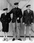 Jan, Evert & Sikke Nauta (Ataka, februari 1946)