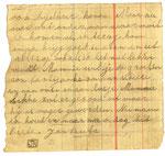 Briefje verstuurd door Jan Nauta omstreeks augustus 1945  vanuit het kamp Tjimahi 6 aan Egberdina Nauta - de Vries  in kamp Tjideng.