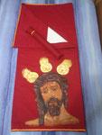 Costal punto de cruz banderita de españa/alicante pintado a mano : 100 euros