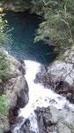 上から見たマテリヤの滝