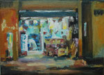 Midnight-Shopping, 2014, 13 x 18 cm, Öl/Leinwand