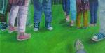 Kommunikation, 2014, 70x140 cm, Acryl/Leinwand