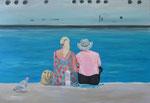 Ein Schiff wird kommen, 2013/14, 80x120 cm, Öl/Leinwand