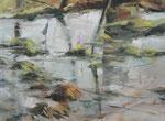 Wasserlandschaft, 2011, 60 x 80 cm, Öl/Lw.