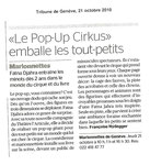La Tribune de Genève, 21 oct 2010