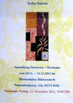 Flyer zur Ausstellung Blumenladen Blütenrausch Dezember 2012