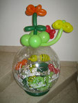Geschenkballon Blumen und Bienen
