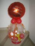 Geschenkballon mit Folienballon individuell beschriftet
