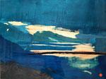 Réflexions (80x 60 cm) . Art contemporain , marqueterie ( vendu)