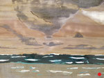 ciel d'orage (80x60 cm) . Art contemporain , marqueterie  ( vendu )