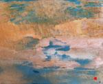 harmonie ( 43 x 34 cm) . Art contemporain, marqueterie . ( vendu)