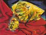 Girasoli con drappo rosso (1974)