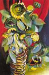 Cesto con girasoli (1969-70)
