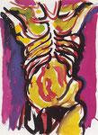 """Bozzetto per  il dipinto """"L'Uomo"""" (1977)"""