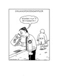 Cartoon - Organspendensammler
