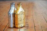 Vergoldetes und versilbertes Glas - als Vase oder Deko einsetzbar